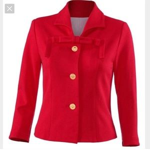 Cabi, Love Carol red jacket with front bow